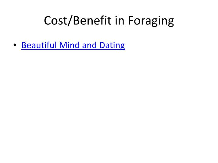 Cost/Benefit in Foraging