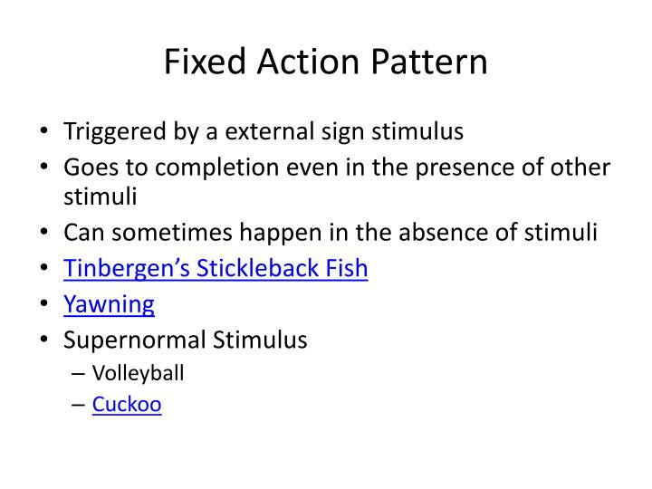 Fixed Action Pattern