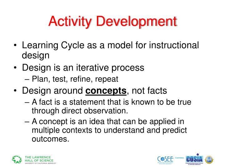 Activity Development