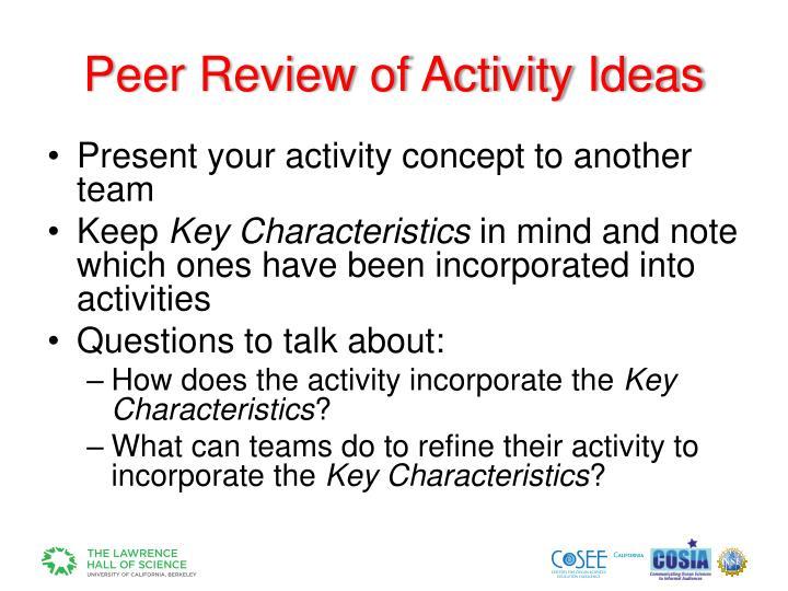 Peer Review of