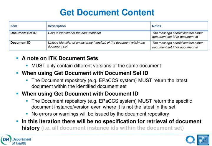 Get Document Content