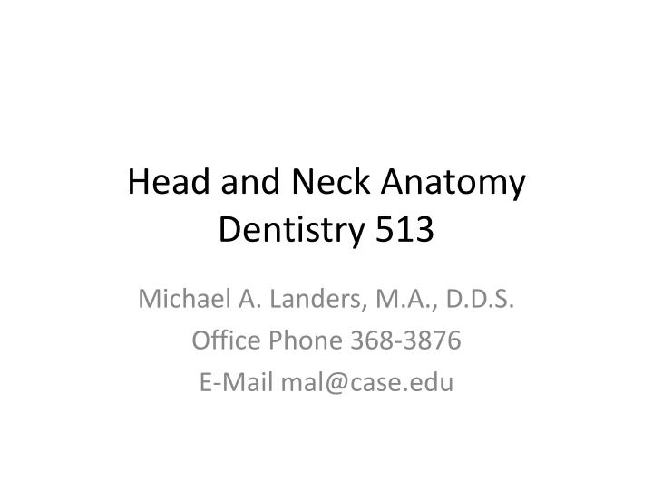 head and neck anatomy dentistry 513 n.