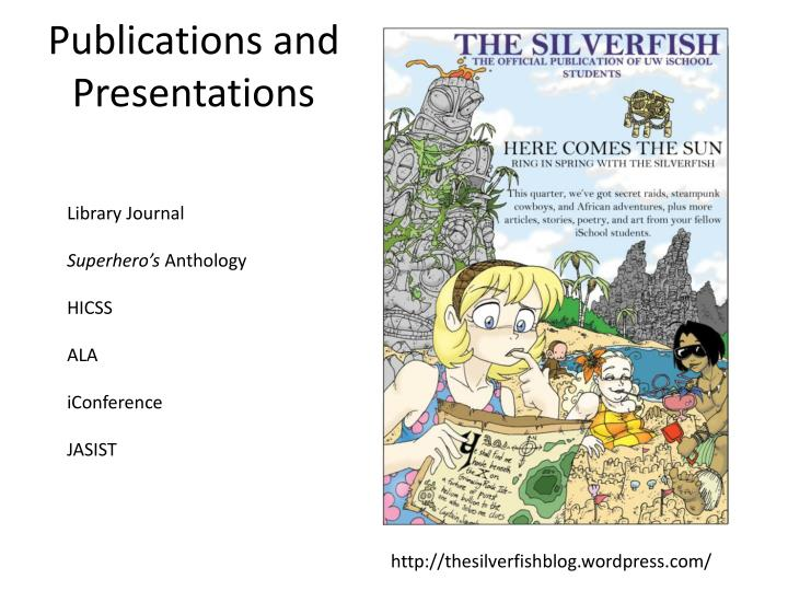 publications and presentations n.