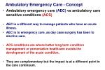 ambulatory emergency care concept