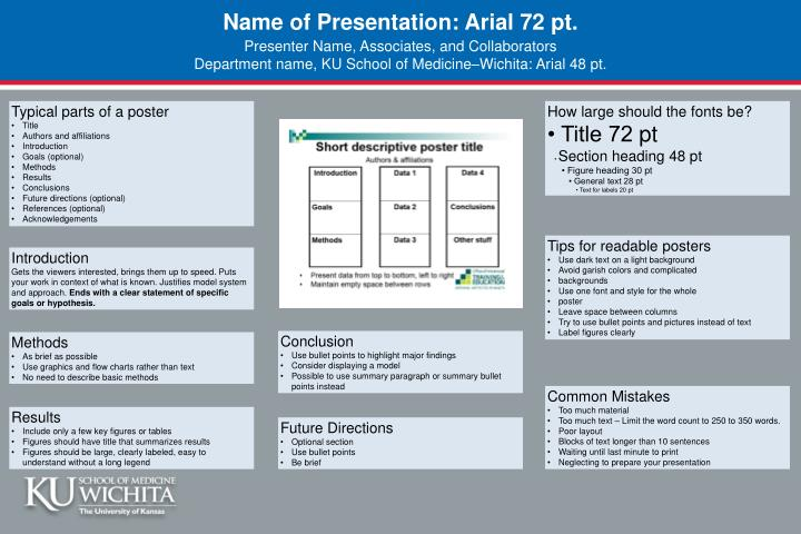 name of presentation arial 72 pt