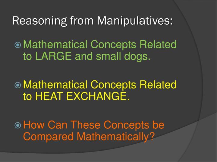 Reasoning from Manipulatives: