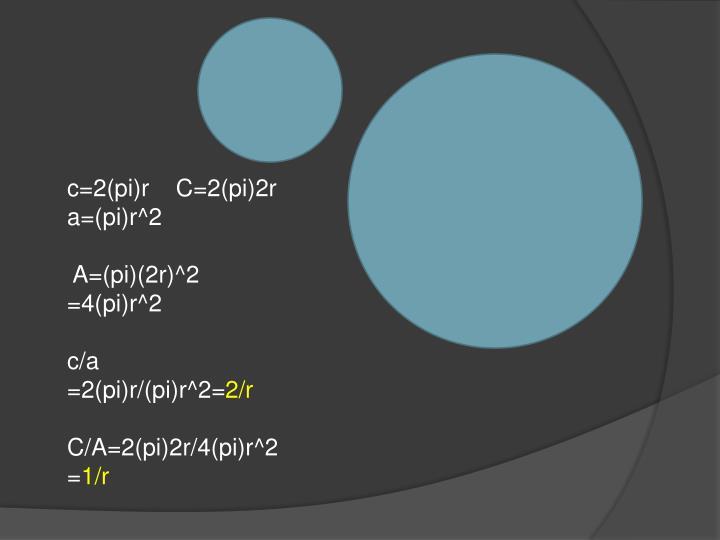 c=2(pi)r    C=2(pi)2r