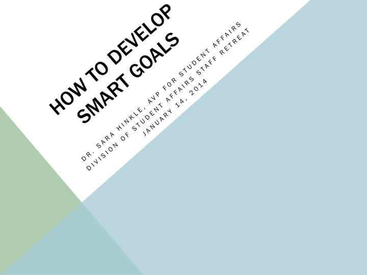 how to develop smart goals n.