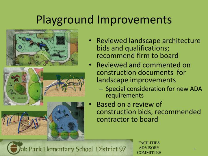 Playground Improvements