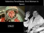 valentina tereshkova first woman in space