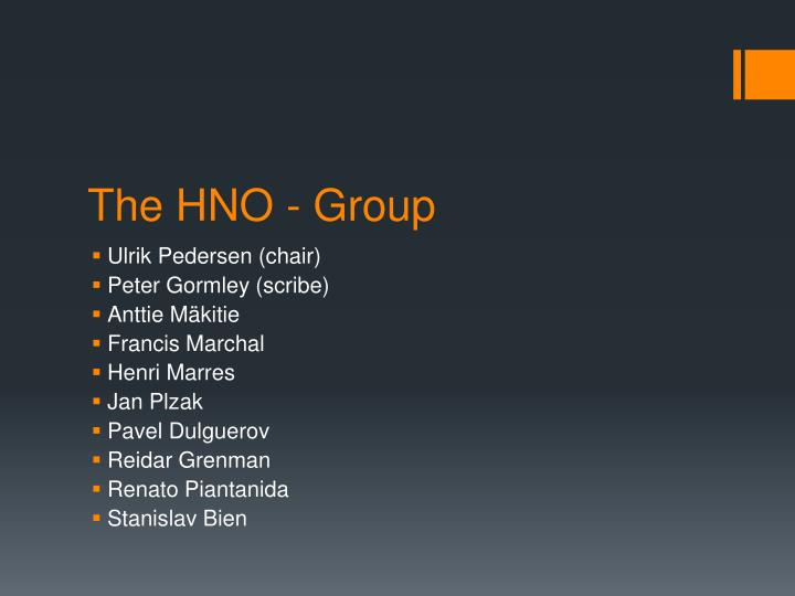 The hno group