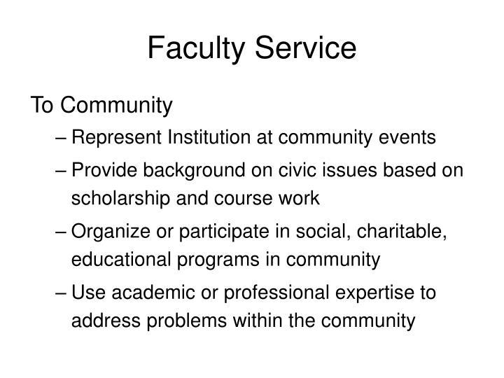 Faculty Service