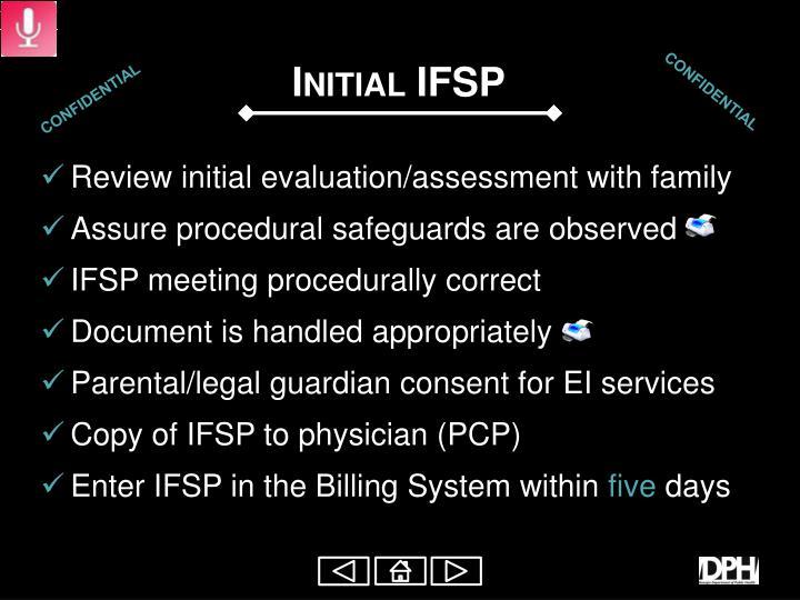 Initial IFSP
