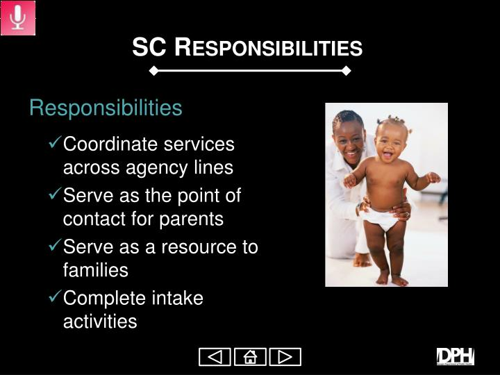 SC Responsibilities