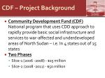 cdf project background