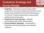 evaluation strategy and survey design