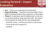 looking forward impact evaluation