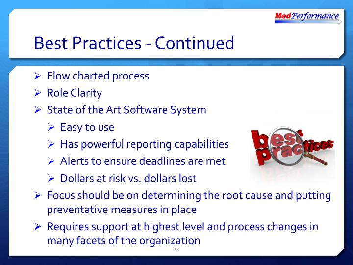 Best Practices - Continued
