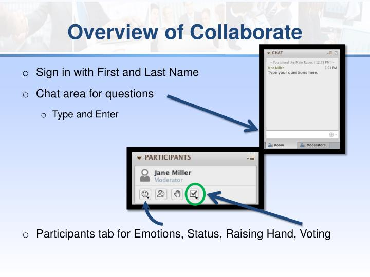Overview of collaborate
