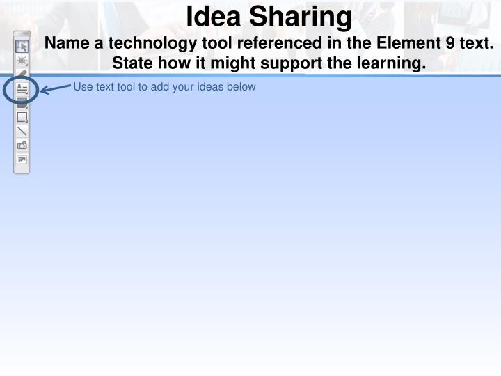 Use text tool to add your ideas below