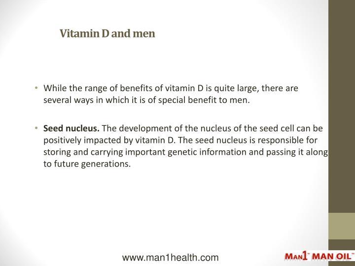 Vitamin D and men