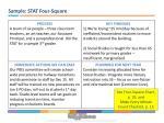 sample stat four square
