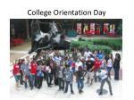 college orientation day