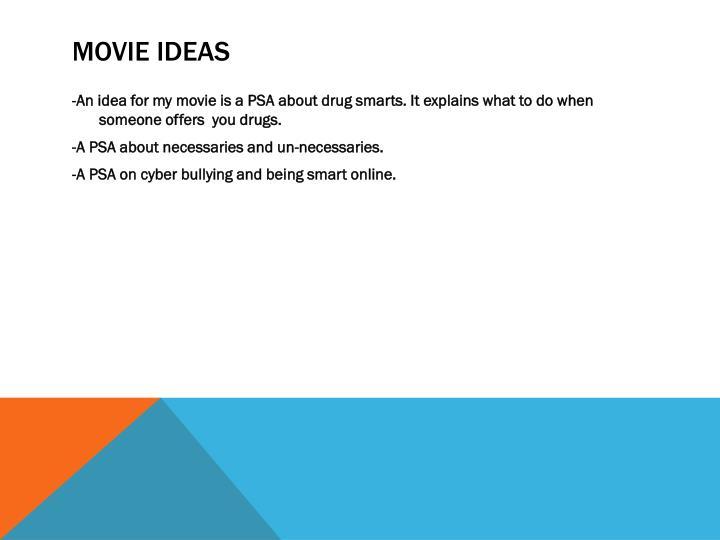Movie Ideas