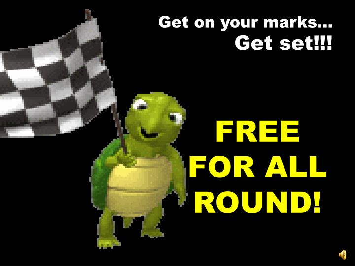 Get on your marks…