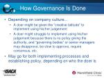 how governance is done14