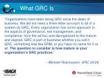 what grc is7