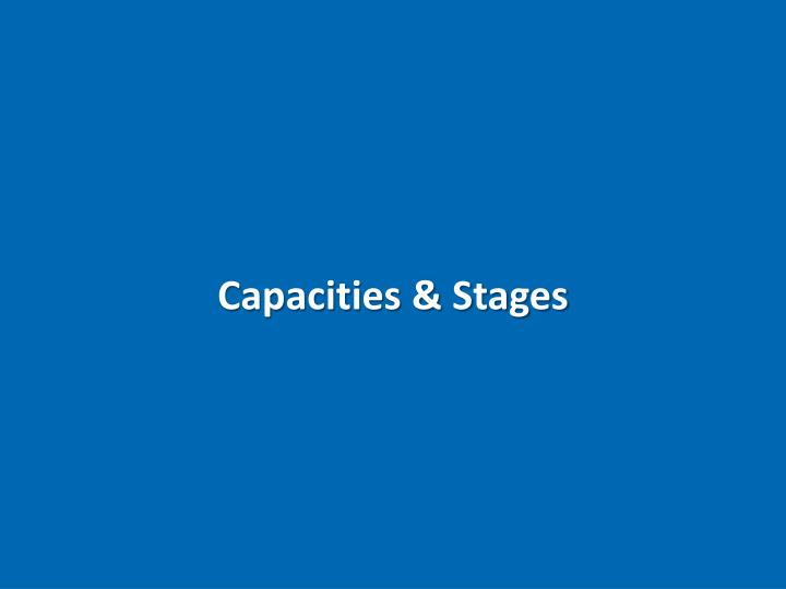 Capacities & Stages