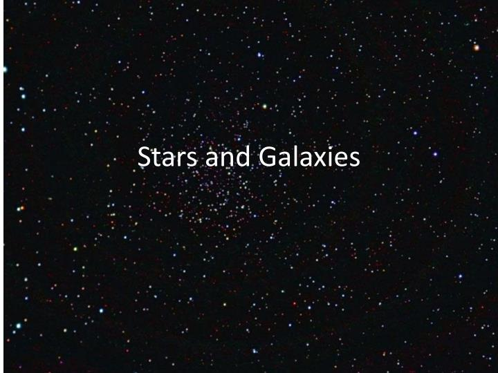 stars and galaxies n.