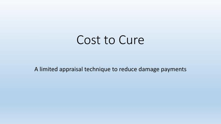 cost to cure n.