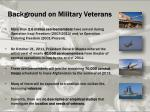 background on military veterans