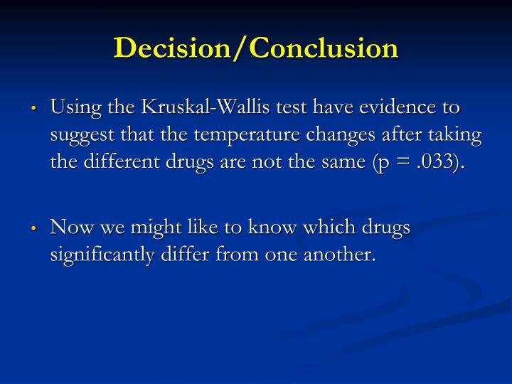Decision/Conclusion