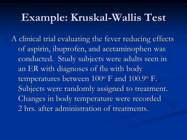 Example: Kruskal-Wallis Test