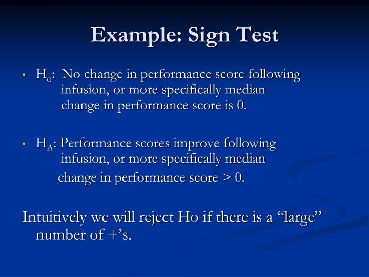 Example: Sign Test