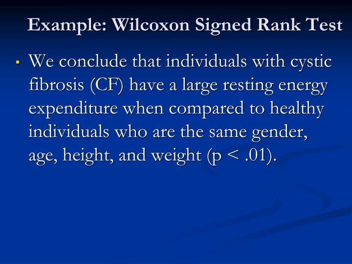 Example: Wilcoxon Signed Rank Test