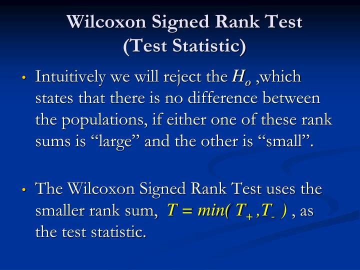 Wilcoxon Signed Rank Test