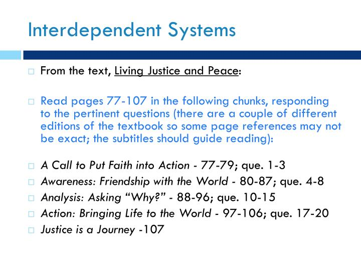 Interdependent systems2