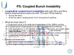 ps coupled bunch instability