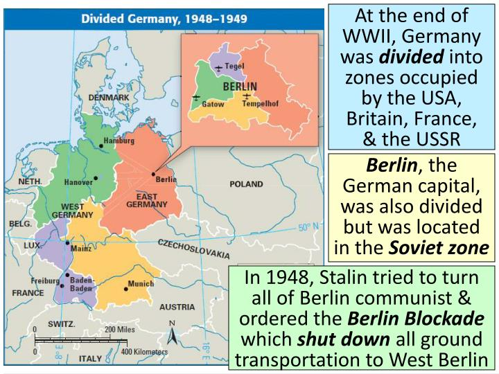 At the end of WWII, Germany was