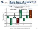 natural gas as a generation fuel continued growth in near future