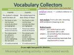 vocabulary collectors12