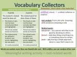 vocabulary collectors13
