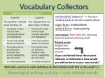 vocabulary collectors7