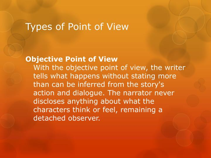 Types of point of view