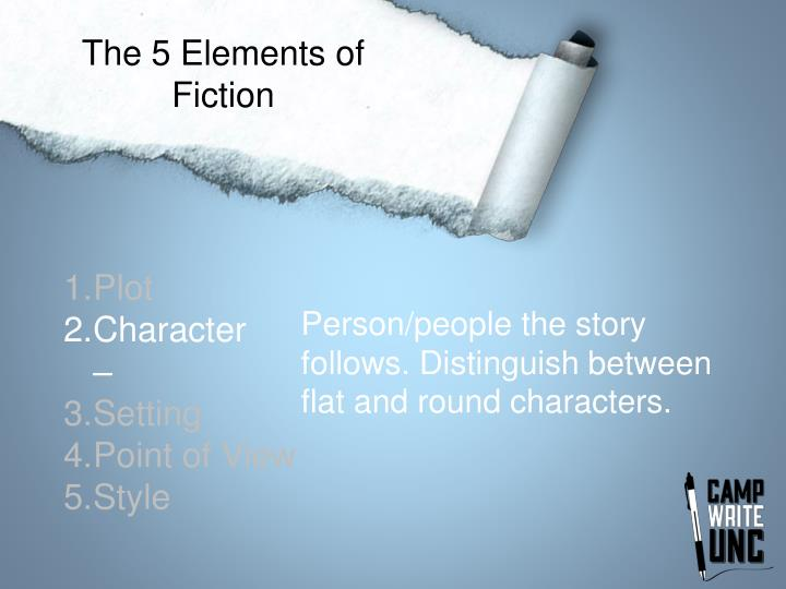 The 5 Elements of Fiction