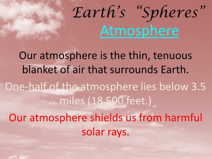 "Earth's  ""Spheres"""